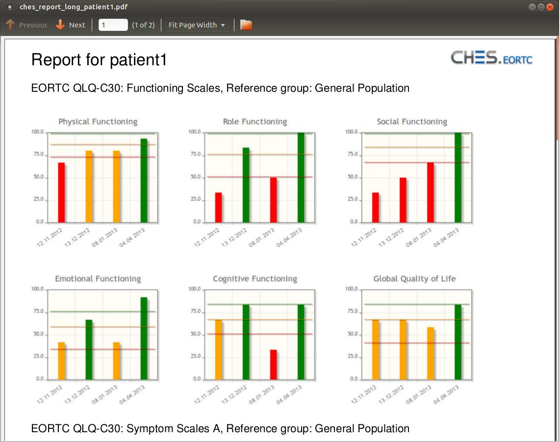 CHES Report PDF mit jspdf